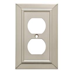 Classic Architecture Single Duplex Wall Plate Satin Nickel - Franklin Brass