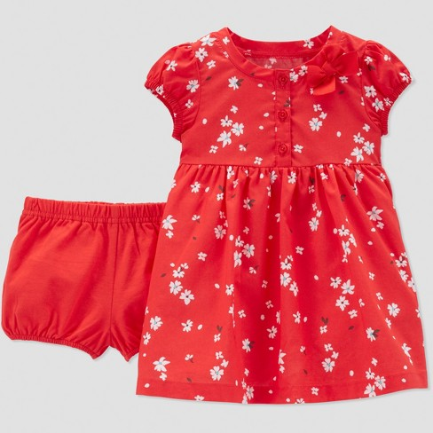 0540496633 Baby Girls' Poppy Floral Dress Set - Just One You® made by carter's Red