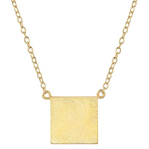 Womens Journee Collection Square Pendant Necklace In Sterling