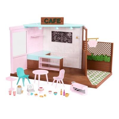 Lori Dolls Local Café & Terrace - Café Playset for 6-in Dolls