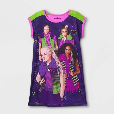 Girls' Zombies Dorm Nightgown - Purple