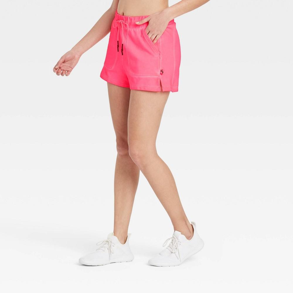 Women 39 S French Terry Mid Rise Shorts Joylab 8482 Pink Xs