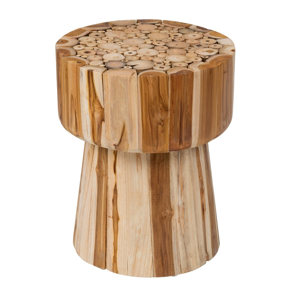 Lawton Teak Accent Table Brown - East At Main