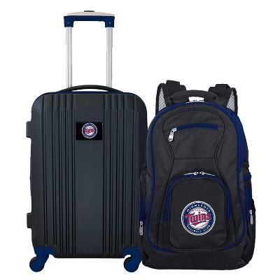 MLB Minnesota Twins 2 Pc Carry On Luggage Set