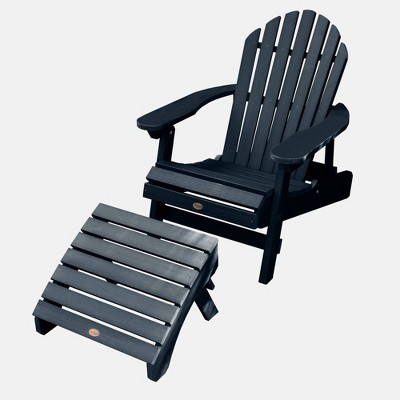 Hamilton Folding & Reclining Adirondack Chair with Folding Adirondack Ottoman - Highwood