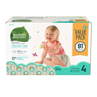 Seventh Generation™ Free & Clear Diapers Size 4 - 81ct