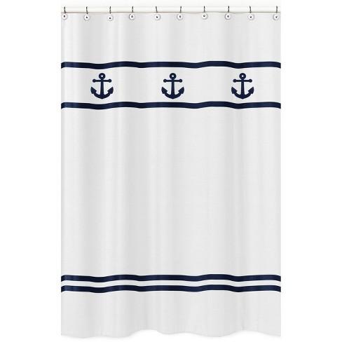 Anchors Away Shower Curtain - Sweet Jojo Designs - image 1 of 4