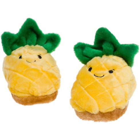 FUNZIEZ! - Women's Pineapple Fruit Slippers - image 1 of 4