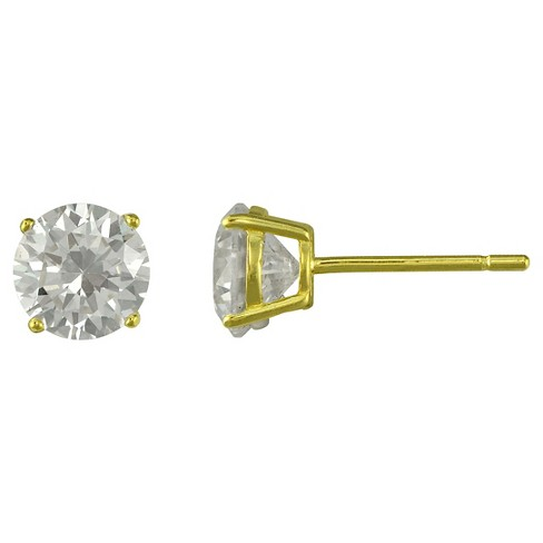 Cubic Zirconia Stud Earring - Gold - image 1 of 1