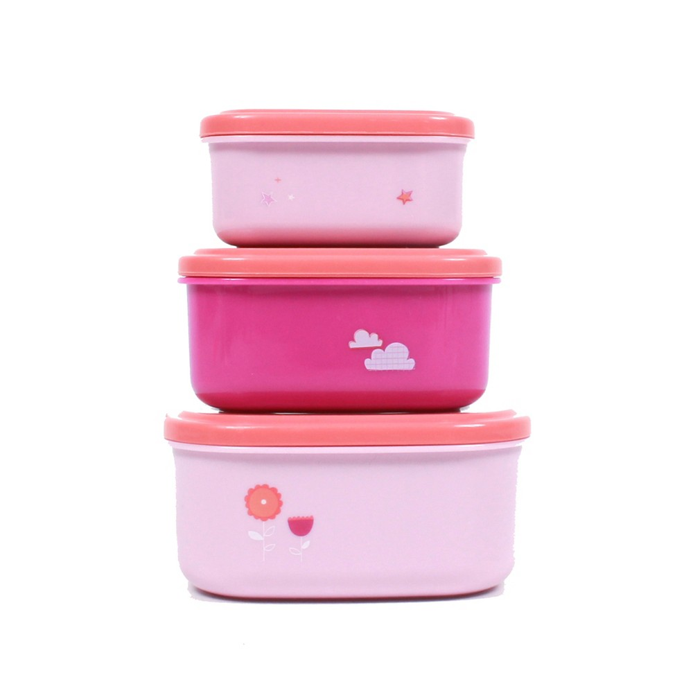 Image of Cheeky 3pk Food Storage Set Unicorn Pink