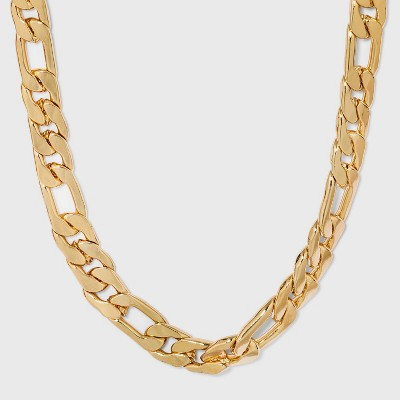 Gold Curb Chain Necklace - A New Day™ Gold