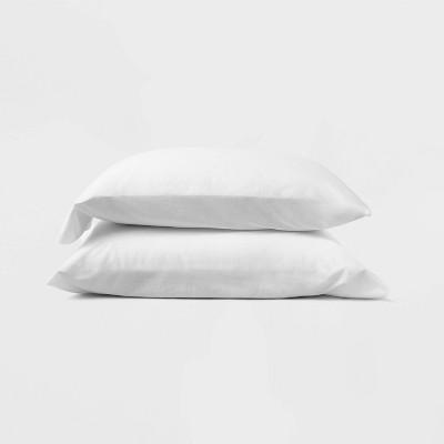 King Jersey Solid Pillowcase Set White - Casaluna™