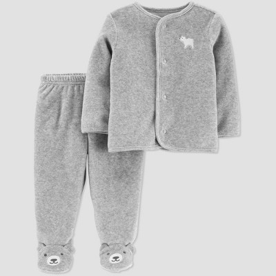 Baby Boys' 2pc Top & Bottom Set - Just One You® made by carter's Newborn Gray