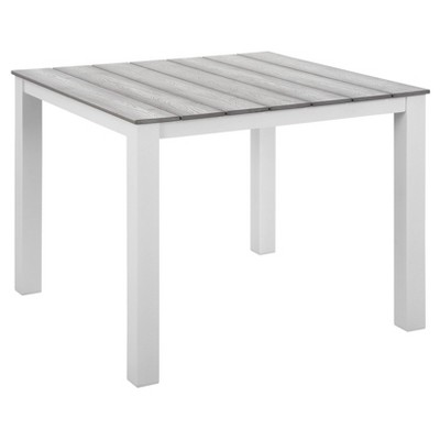 """Maine 40"""" Rectangular Outdoor Patio Dining Table - Modway"""