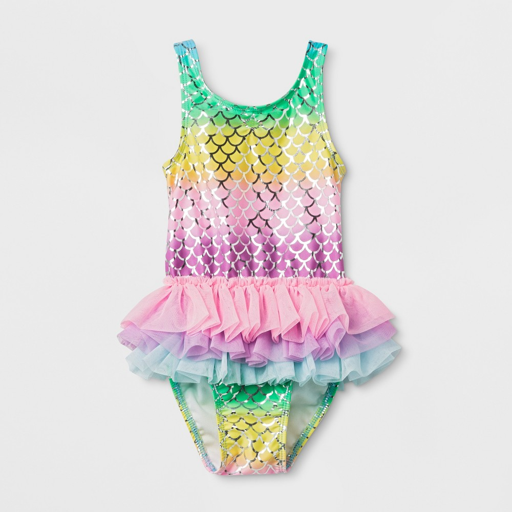 Toddler Girls' Tutu One Piece Swimsuit - Cat & Jack Pink 4T