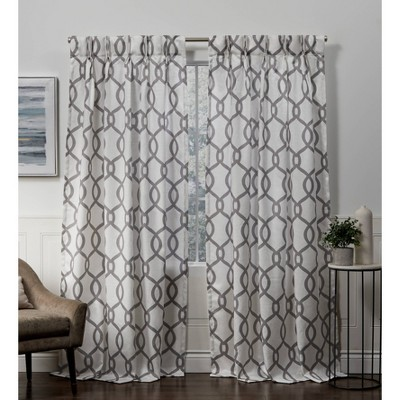 Kochi Pinch Pleated Light Filtering Window Curtain Panels - Exclusive Home