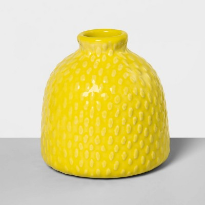 4.2  x 4  Stoneware Bud Vase Yellow - Opalhouse™