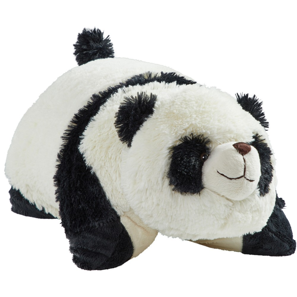 "Image of ""18"""" Signature Comfy Panda Throw Pillow - Pillow Pets, White Black"""