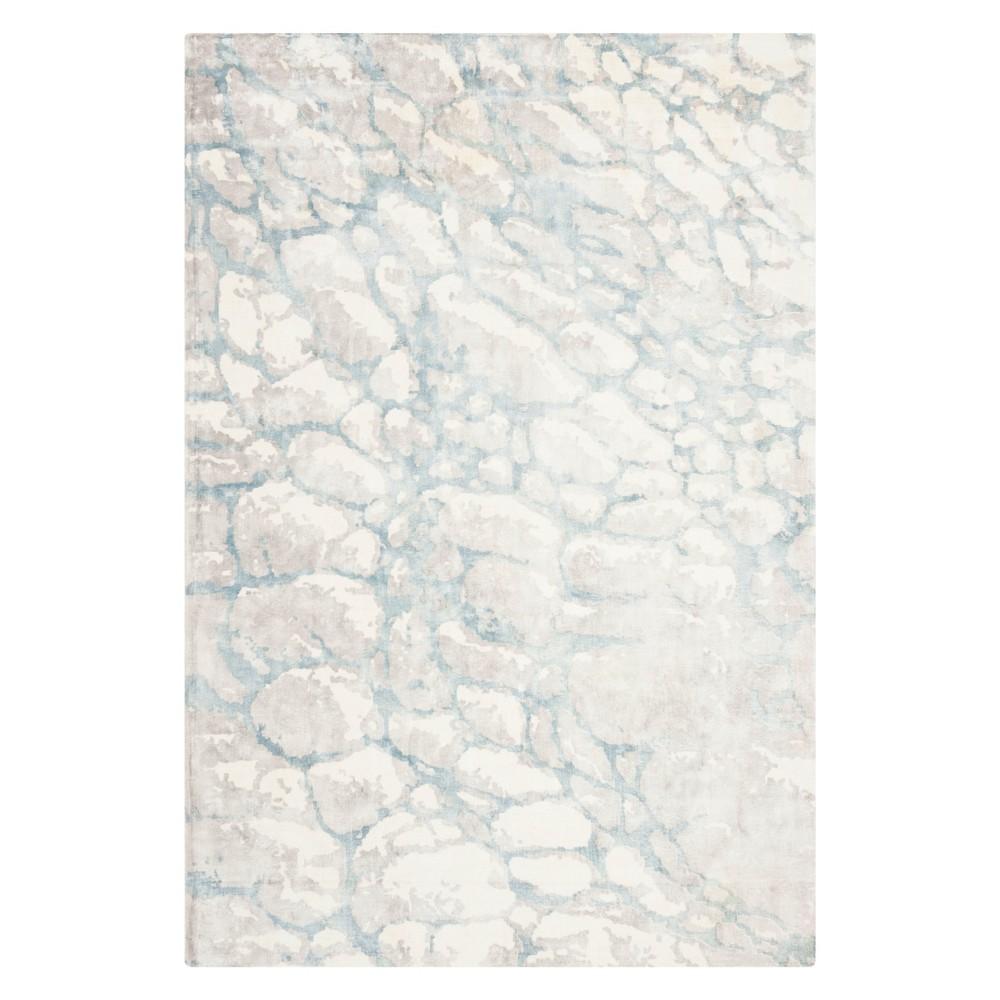 6'X9' Pebble Area Rug Turquoise/Ivory - Safavieh