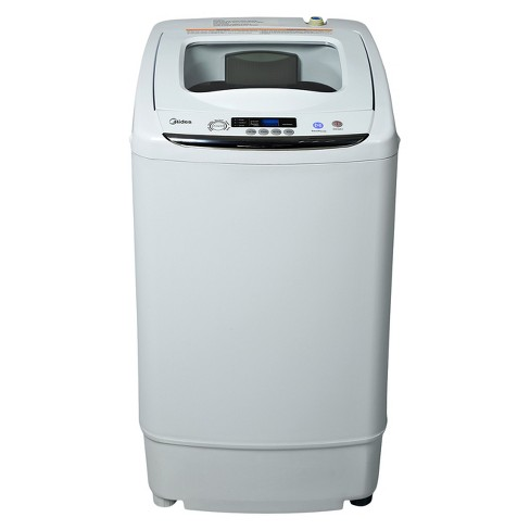 Midea 0.92 cu ft Stainless Steel Portable & Digital Washing Machine - White MAR30-P0501G - image 1 of 4