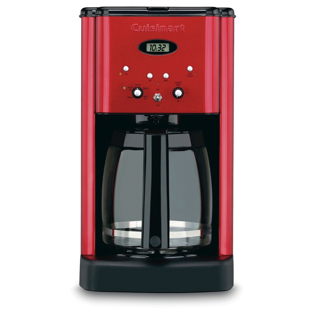 Cuisinart Brew Central 12 Cup Programmable Coffee Maker – Metallic Red Dcc-1200MR, Red Pepper 21398006