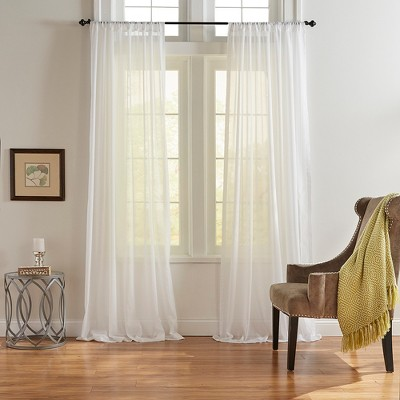 Asher Cotton Voile Cottagecore Sheer Window Curtain Panel - Elrene Home Fashions