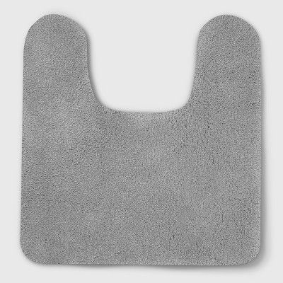 Soft Nylon Solid Contour Bath Rug Gray - Opalhouse™