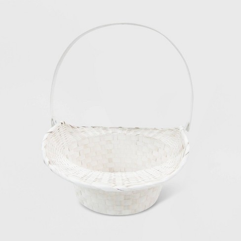 Classic Woven Easter Basket White - Spritz™ - image 1 of 2