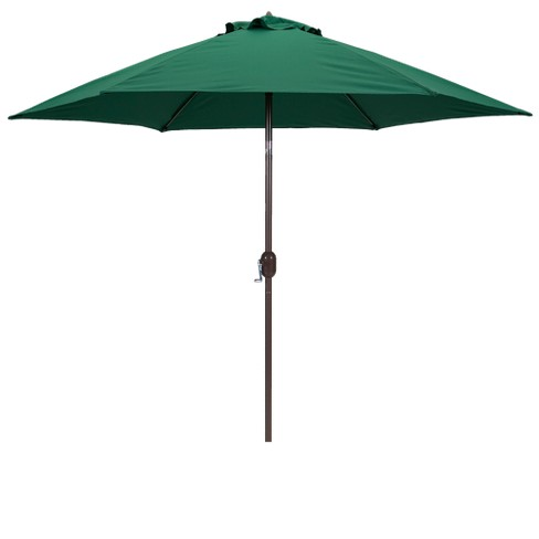 9' Round Crank Patio Umbrella - Green - image 1 of 3