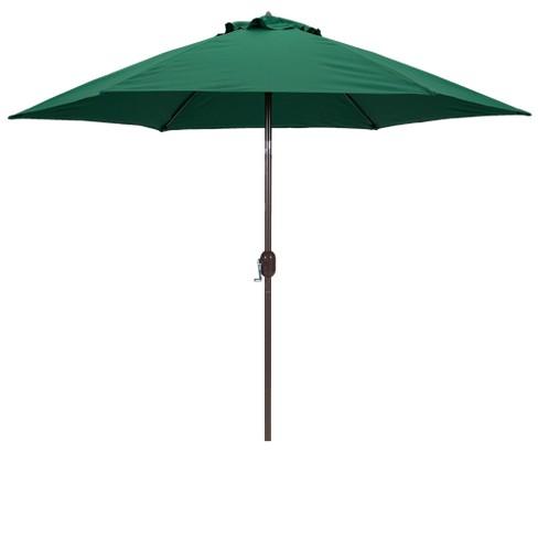 9 Round Crank Patio Umbrella Green