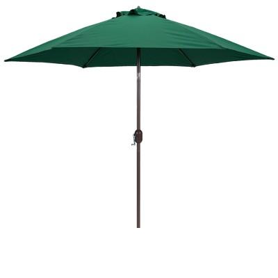 Etonnant 9u0027 Round Crank Patio Umbrella   Green