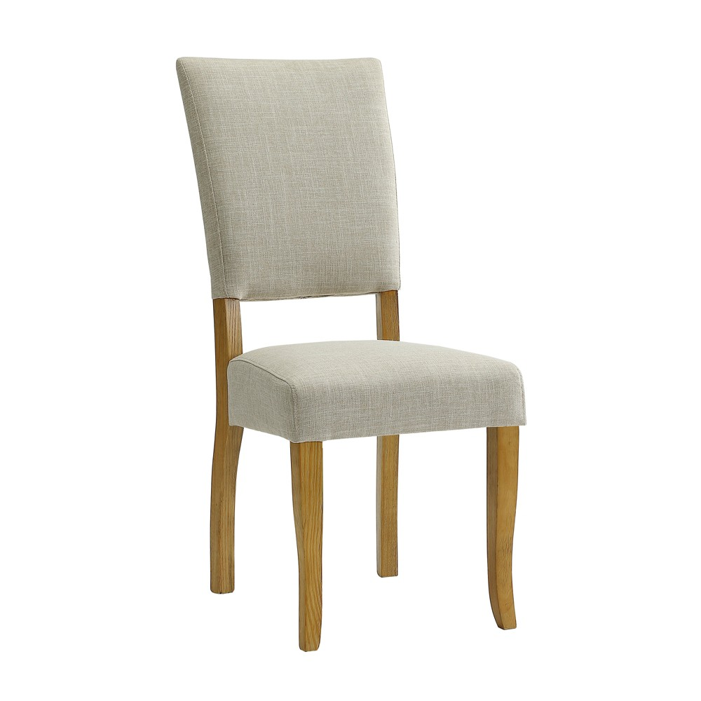 Set of 2 Open Back Parsons Dining Chair Ivory - Saracina Home