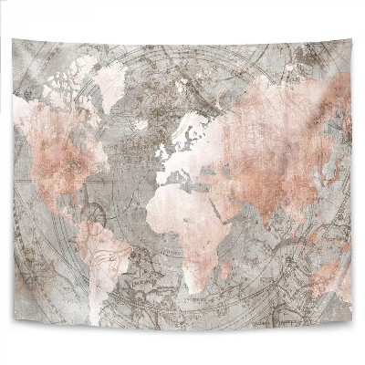 Americanflat Celestial World Map by PI Creative Art Wall Tapestry