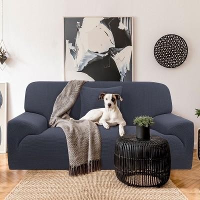 1 Pc Polyester Spandex Jacquard Removable Washable Sofa Slipcovers - PiccoCasa