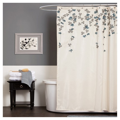 Flower Drops Shower Curtain - Lush Decor - image 1 of 1