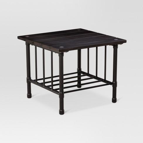 Fernhill Metal Square Patio Side Table Black Threshold Target