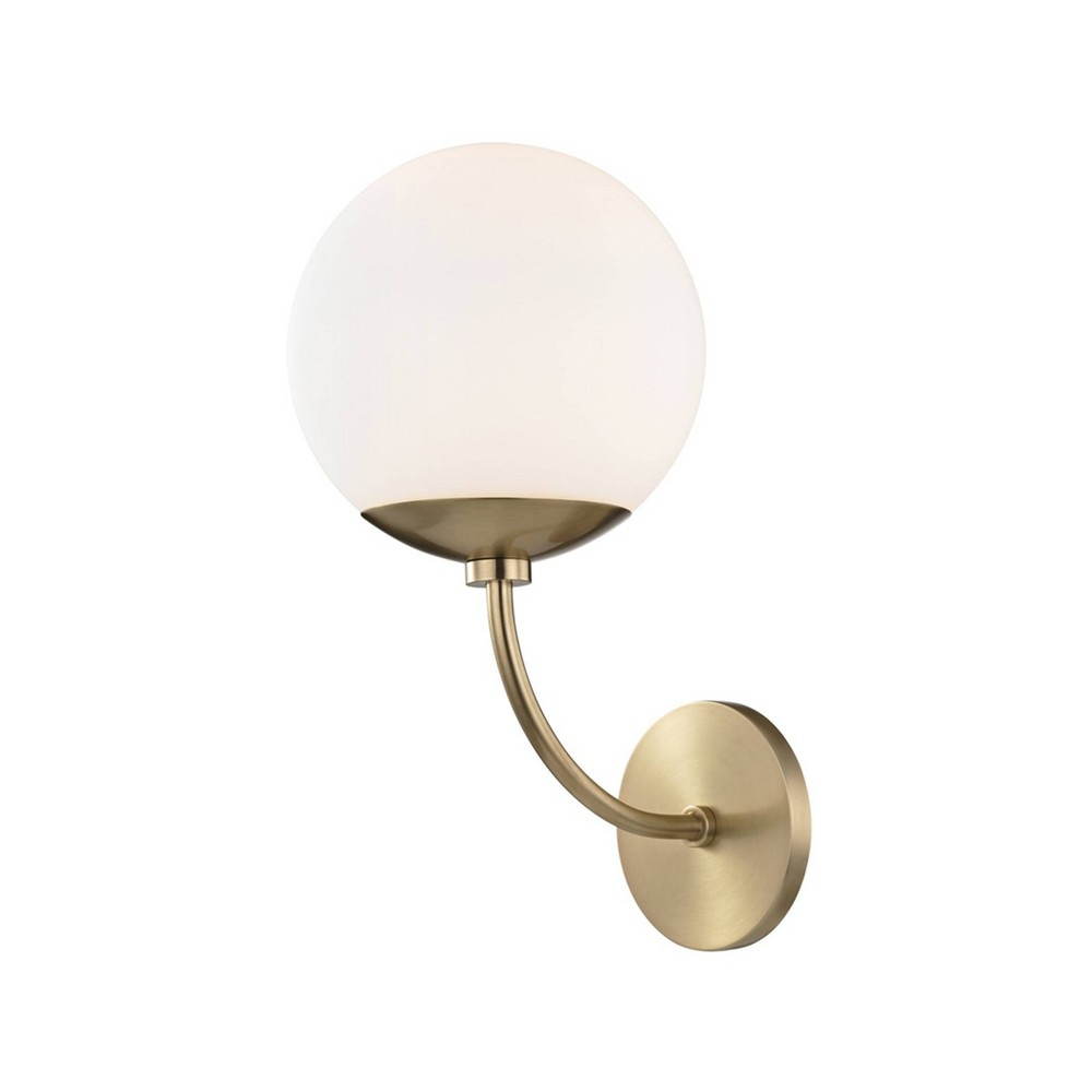 Carrie 1-Light Wall Sconce Aged Brass - Mitzi by Hudson Valley Promos