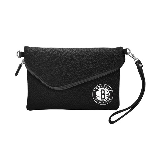 NBA Brooklyn Nets Fold Over Pebble Crossbody Bag - image 1 of 2
