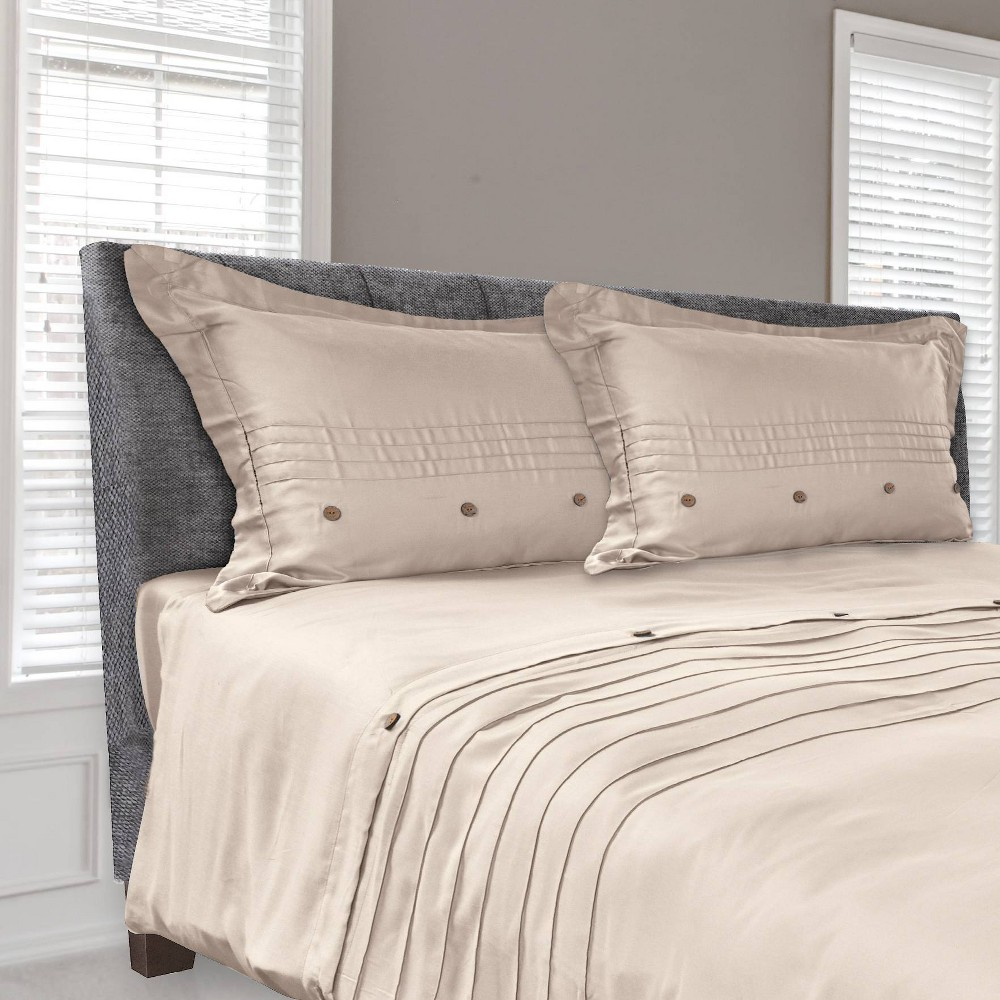 Image of Tempur-Pedic Cool Luxury Full/Queen Duvet Cover Sandstone