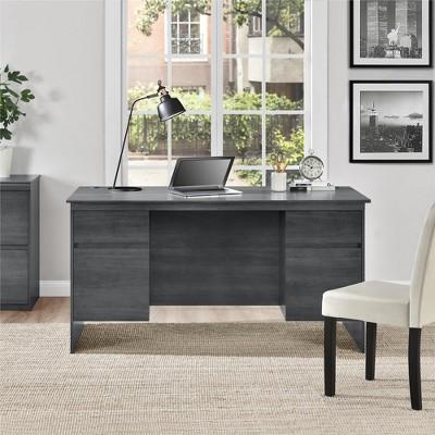 Chapman Executive Desk Weathered Oak - Room & Joy