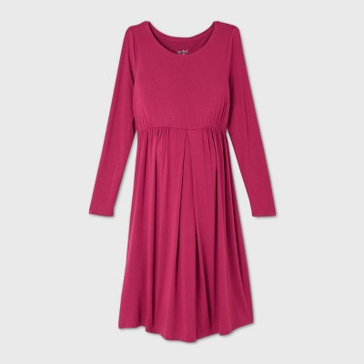 Long Sleeve A-Line Maternity Dress - Isabel Maternity by Ingrid & Isabel™