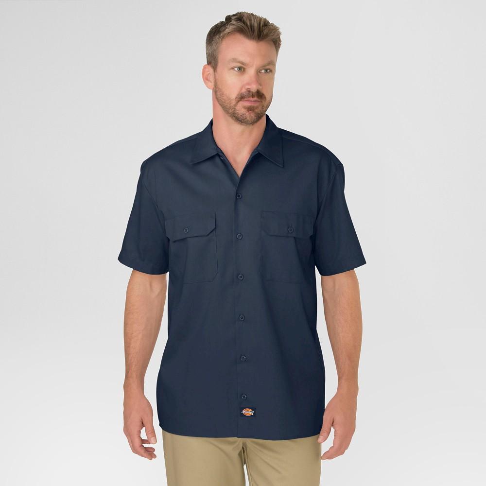 Best Shopping Dickies Men Original Fit Short Sleeve Twill Work Shirt Dark Navy M