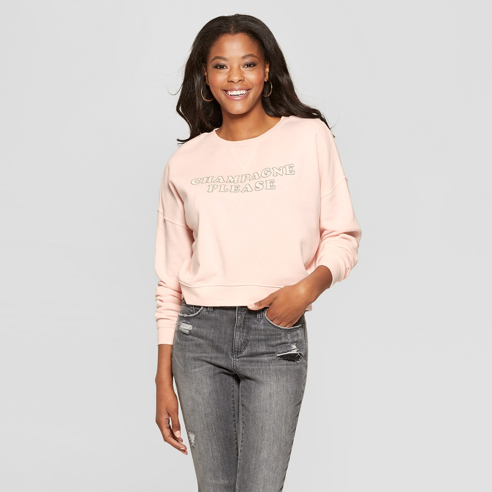 Women's Champagne Graphic Sweatshirt - Fifth Sun Rose XS, Purple