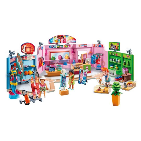 Playmobil Shopping Plaza, mini figures image number null