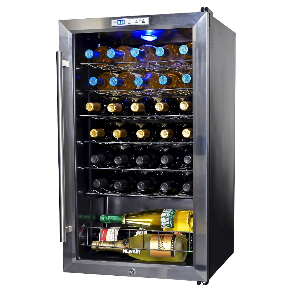 NewAir 33 Bottle Compressor Wine Cooler – Stainless Steel (Silver) Awc-330 50149430