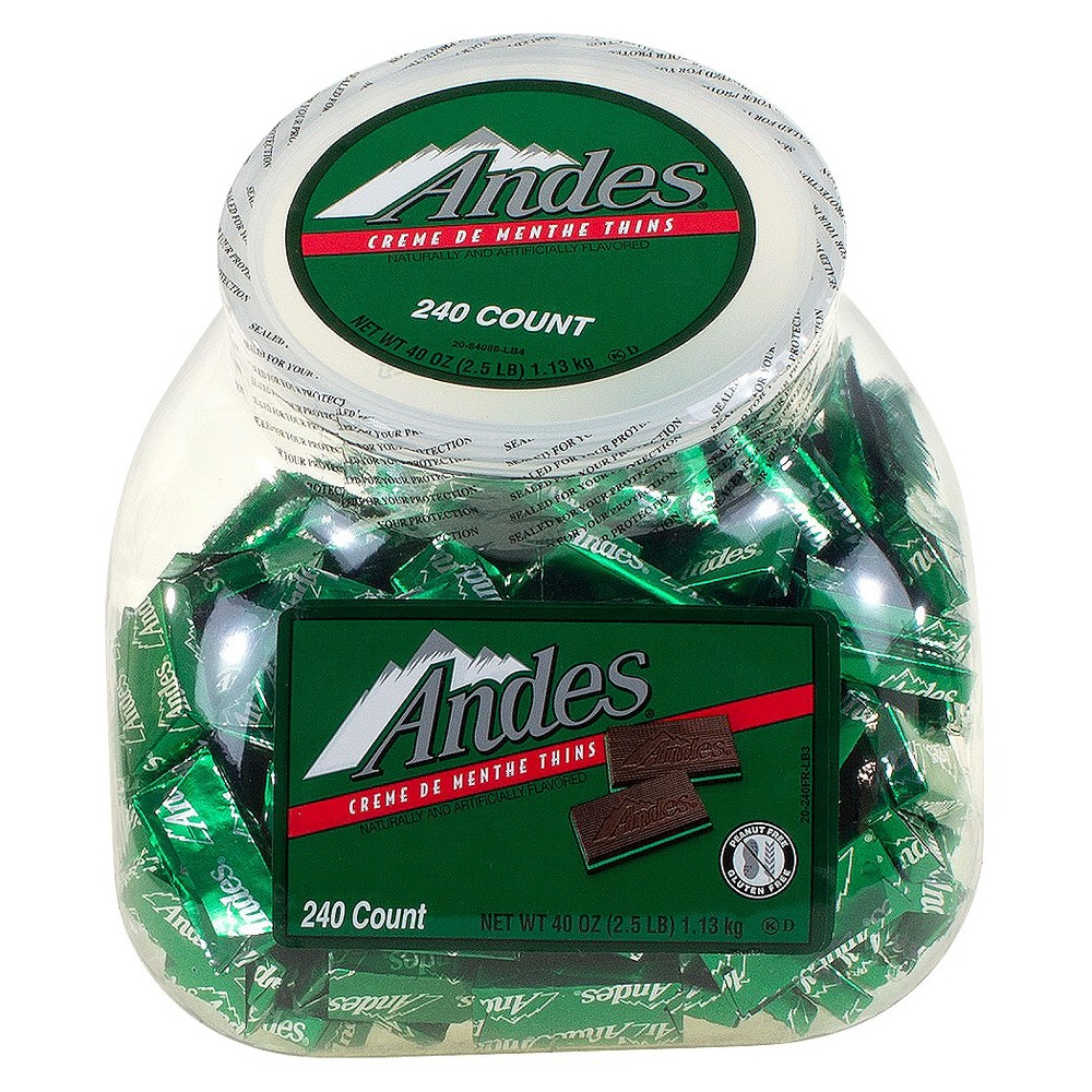 Andes Creme de Menthe Thins Chocolate Candies - 240ct, Green