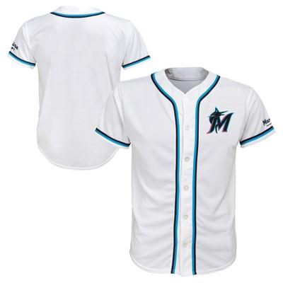 official photos 5ecce f4c73 MLB Miami Marlins Boys' White Team Jersey