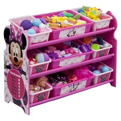 9 Bin Plastic Toy Organizer Disney Minnie Mouse - Delta Children