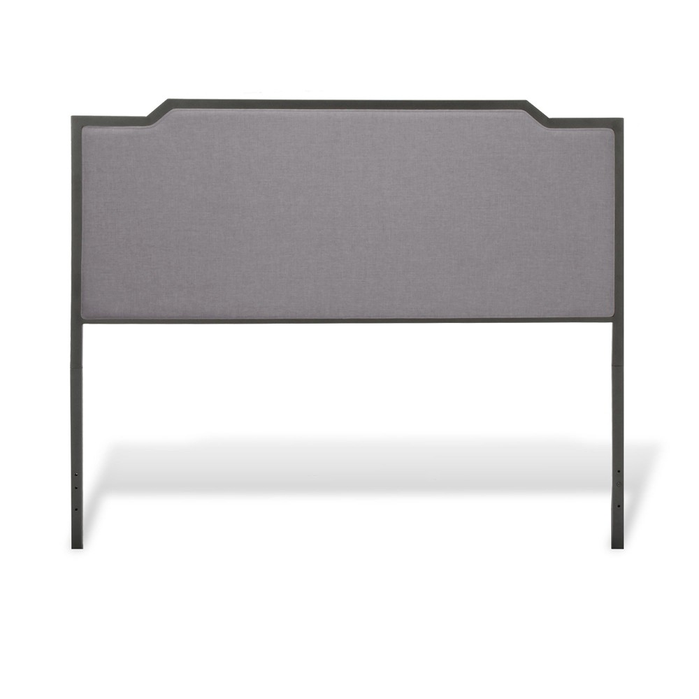 Bayview Metal and Upholstered Headboard - Black Pearl - King - Fashion Bed Group