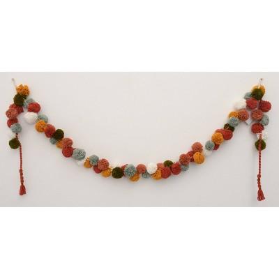 """60"""" Handmade Colored Garland with Pom-Poms - Opalhouse™"""